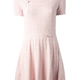 RED VALENTINO - cable knit dress