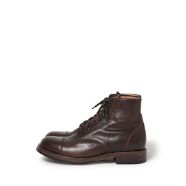 nonnative - OFFICER LACE UP BOOTS COW LEATHER by OFFICINE CREATIVE
