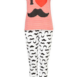 TOPSHOP - Moustache Tee And Trouser Set
