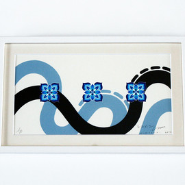 "HITOTZUKI - ""PORTATION"" SCREEN PRINT"