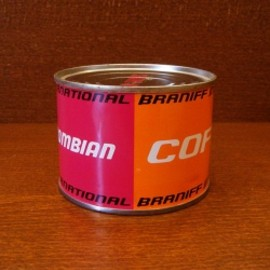 BRANIFF INTERNATIONAL - 60's 機内ケータリング用COFFEE缶 Designed by Alexander-Girard