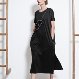 CHRISTOPHE LEMAIRE - 2012SS cotton jersey dress