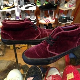 "vans - 「<used>80-90's vans CHUKKA BOOT burgundy velvet""made in USA"" size:US9(27cm) 17800yen」完売"