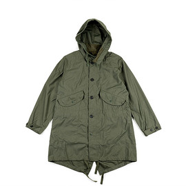 ENGINEERED GARMENTS - Highland Parka-Nyco Reversed Sateen-Olive