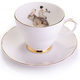 Butterfly tea cup