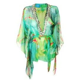 MATTHEW WILLIAMSON -  Tropical Print Top