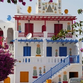 Mykonos,Greece - Ornate House