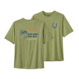 patagonia - M's Capilene® Cool Daily Graphic Shirt, Blaze 'Em: Supply Green (BESG)