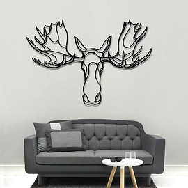 Moose Head wooden sign