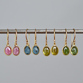 Margaret Solow - Enclosed Oval Tourmaline Earrings