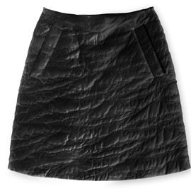 ASSK - Image of SCRATCH Quilted Skirt - Black