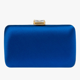 PRADA - Satin clutch with stone embellishment