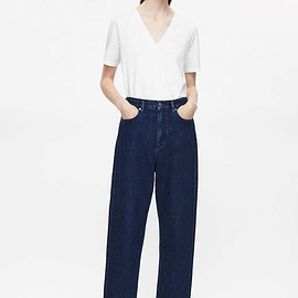 COS - Straight-fit cropped jeans in Blue
