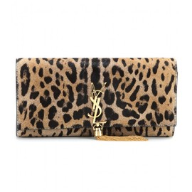SAINT LAURENT - Classic Monogramme pony hair clutch