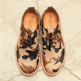 KIDS LOVE GAITE - Camouflage Print Wing Tip Shoes