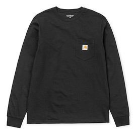 Carhartt - L/S POCKET T-SHIRT - Black