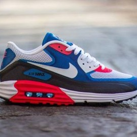 Nike - NIKE AIR MAX LUNAR90 C3.0 LIGHT BASE GREY/WHITE-MILITARY BLUE-PHOTO BLUE
