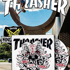 High speed production - Thrasher Magazine February 2015 Plus Hell of a Year DVD