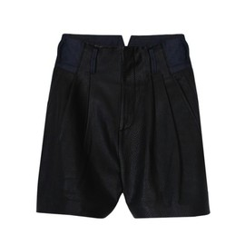 tibi - PEBBLED LEATHER SHORT(tibi)