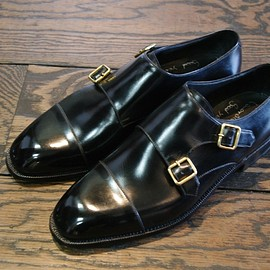 Enzo bonafe - ART.3873 Double monk straight tip shoes