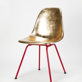 Hermann Miller/okay art -  Eames Side Chair Golden