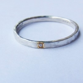 Perché? - silver × gold DIA3P ring