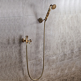 faucet - Antique Copper Ceramic Valve Single Handle One Hole Shower Faucet