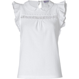 REDValentino - White Waffle Knit Cotton Top