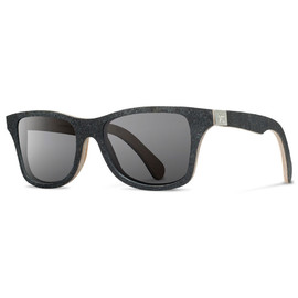 SHWOOD - Stone Canby: Black Slate – Grey Polarized Sunglasses