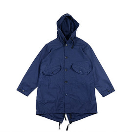ENGINEERED GARMENTS - Highland Parka-Nyco Reversed Sateen-Navy