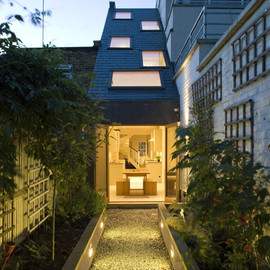 Alma-nac Collaborative Architecture - Slim House, St John's Hill in Clapham, south-west London, UK