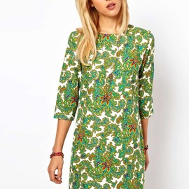 ASOS - Shift Dress In Paisley Print