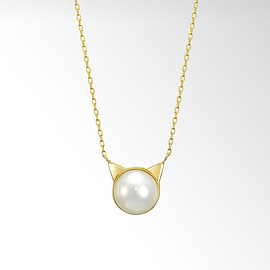 STAR JEWERY - PEARL CAT NECKLACE ¥24,840(税込)