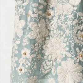 anthropologie - embroidered skirt