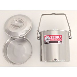 ZEBRA - 14 cm Stainless Steel Pot & Inner Pan