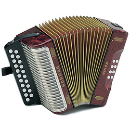 Hohner - Hohner Erica Diatonic Accordion - Pearl Red, Key of GCF