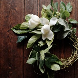 the little shop of flowers - wreath of gardenia