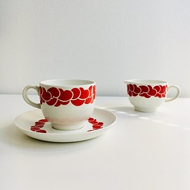 Arabia - Vintage Arabia Finland ceramic coffee cup set