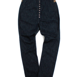 KAPITAL - 12oz Denim Pierrot Pants