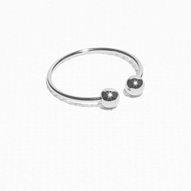 & Other Storie - Orb ring   Silver
