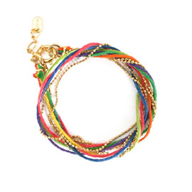 Hemp and Chain Bracelet - Gradation - Hemp and Chain Bracelet - Gradation