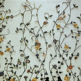 Sheikh Zayed Grand Mosque, Abu Dhabi - wall decoration