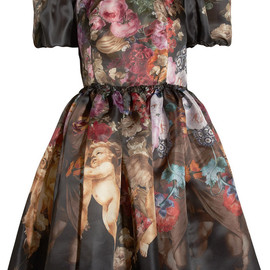 DOLCE&GABBANA - Printed silk-organza dress