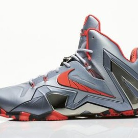 Nike - NIKE LEBRON XI ELITE WOLF GREY/LASER CRIMSON-COOL GREY-BLACK