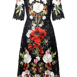 DOLCE&GABBANA - SS2016 Embroidered Lace A Line Dress