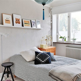 my scandinavian home: Lime green and blue in a Swedish apartment - my scandinavian home: Lime green and blue in a Swedish apartment