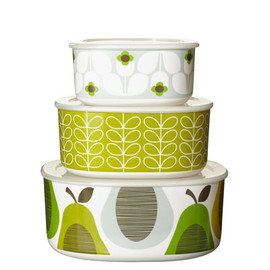 Orla Kiely - Giant Wallflower Set of 3 Melamine Storage Bowls
