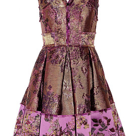 Erdem - FW2015 Fabienne metallic floral-jacquard dress