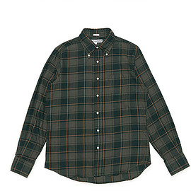 INDIVIDUALIZED SHIRTS - BD Shirts Standard Fit 1868 Check-Olive