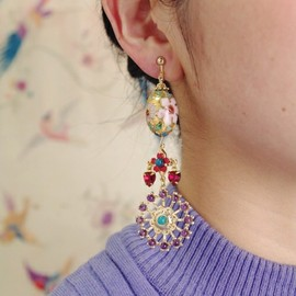 mother - Secret garden earrings